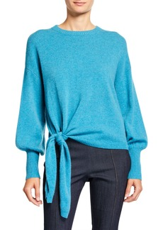 Cinq a Sept Clerisa Tie-Front Pullover Sweater