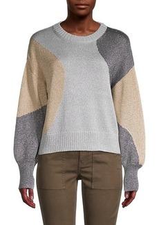 Cinq a Sept Colorblock Pullover Sweater