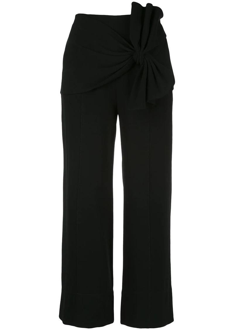 Cinq a Sept Connie knot-detail trousers