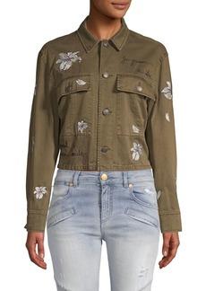 Cinq a Sept Cosette Embroidered Denim Jacket
