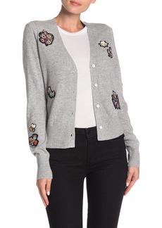 Cinq a Sept Daphne Embellished Wool Blend Cardigan