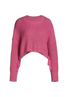 Cinq a Sept Eddie Side-Tie Crop Sweater