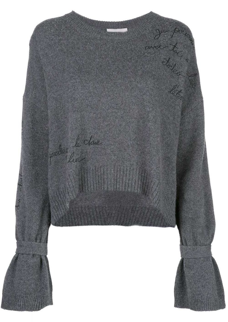 Cinq a Sept embroidered Josephine jumper