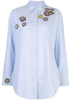 Cinq a Sept embroidered patch shirt