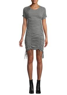 Cinq a Sept Estella Ruched Drawstring Mini Dress