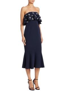 Cinq a Sept Eza Strapless Midi Dress