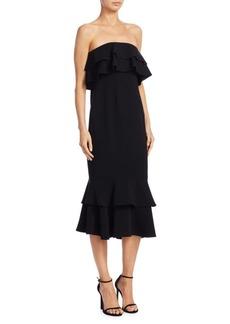 Cinq a Sept Ezana Strapless Ruffle Dress