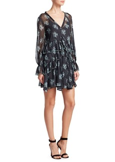 Cinq a Sept Farris Silk Floral Mini Dress