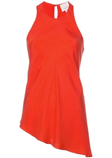 Cinq a Sept flared sleeveless blouse