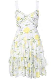 Cinq a Sept floral ruffle dress