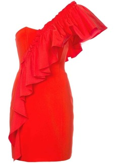 Cinq a Sept frilled fitted dress