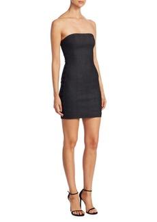 Cinq a Sept Gaia Lace-Up Mini Dress
