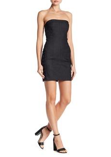 Cinq a Sept Gaia Lattice Side Strapless Dress