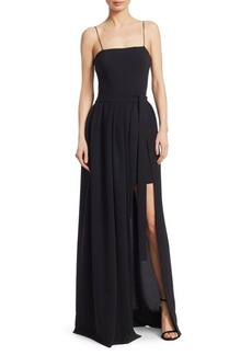 Cinq a Sept Gianni High-Low Column Gown