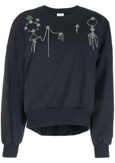 Cinq a Sept gem-embellished sweatshirt