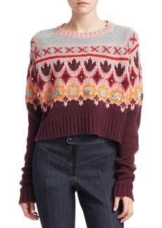 Cinq a Sept Gianni Fair Isle Knit Sweater