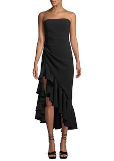 Cinq a Sept Gramercy Strapless Flounce Cocktail Dress