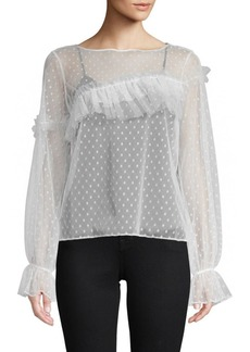 Cinq a Sept Indio Dotted Blouse