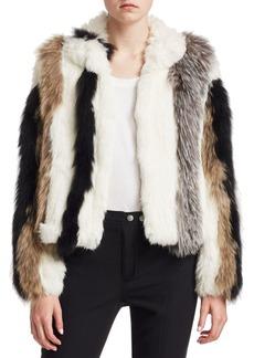 Cinq a Sept Jayden Striped Fur Jacket