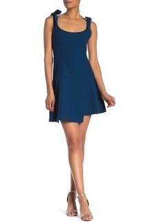 Cinq a Sept Jeanette Shoulder Tie Mini Dress