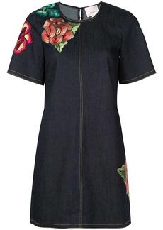 Cinq a Sept Ashton embroidered denim dress