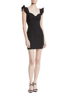 Cinq a Sept Jolie Mathis Sweetheart-Neck Seamed Mini Cocktail Dress