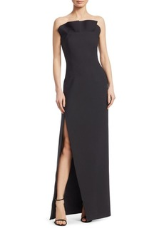 Cinq a Sept Kera Ruffled Strapless Gown