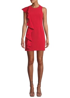 Cinq a Sept Kimberlin Sleeveless Crepe Ruffle Mini Dress