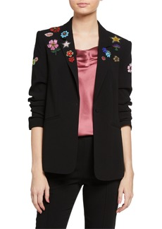 Cinq a Sept Kylie Flower Power Embroidered Jacket