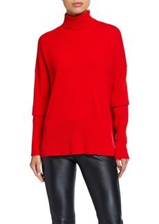 Cinq a Sept Layla Speckled Turtleneck Cashmere Sweater