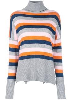 Cinq a Sept Layla striped turtleneck jumper