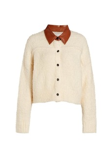Cinq a Sept Leighton Wool Sweater Jacket