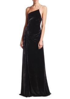 Cinq a Sept Liza Velvet Slit Gown