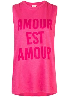 Cinq a Sept Love is Love sleeveless T-shirt