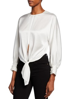 Cinq a Sept Lydia Self-Tie Silk Top