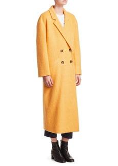 Cinq a Sept Maya Long Mohair-Blend Boxy Coat
