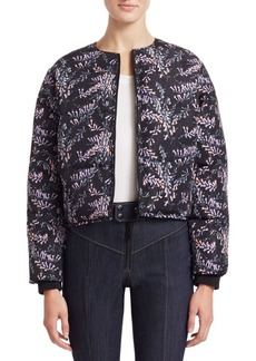 Cinq a Sept Maya Printed Floral Puffer Jacket