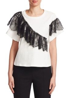 Cinq a Sept Mia Lace-Trimmed Tee