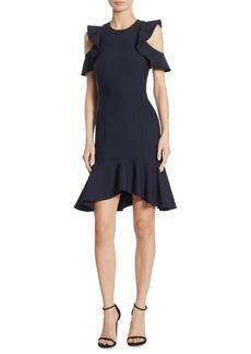 Cinq a Sept Micah Ruffle Short-Sleeve Sheath Dress