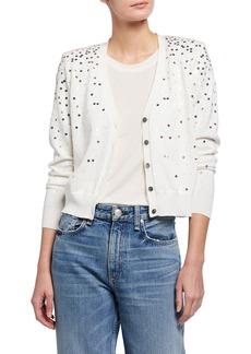 Cinq a Sept Nancy Sequin Embellished Reversible Cardigan