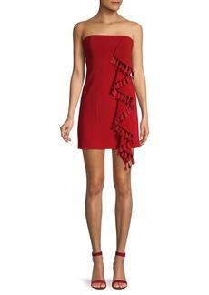 Cinq a Sept Nat Tassel-Trimmed Strapless Dress
