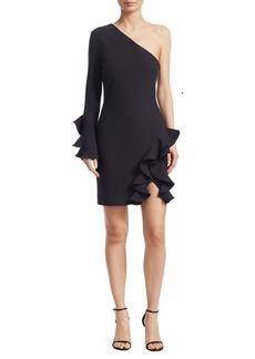 Cinq a Sept Pia One-Shoulder Ruffle Dress