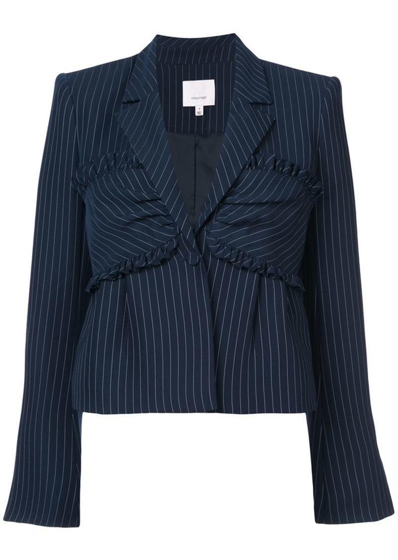 Cinq a Sept pinstripe fitted bustier blazer