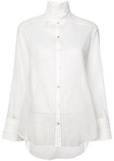 Cinq a Sept pintuck band collar blouse