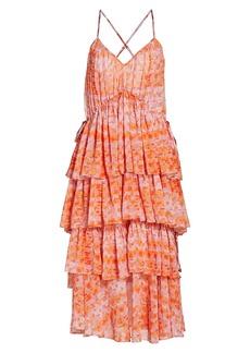 Cinq a Sept Rachel Tiered Ruffle Midi Dress