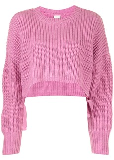 Cinq a Sept ribbed cropped jumper