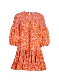 Cinq a Sept Rika Billowed-Sleeve Shift Dress