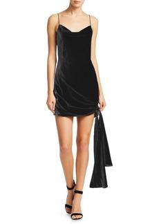 Cinq a Sept Ryder Velvet Side-Tie Mini Dress