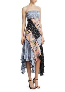 Cinq a Sept Sabrina Patchwork Dress