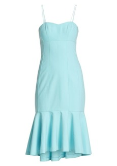 Cinq a Sept Salina Jolie Flounce Hem Sheath Dress
